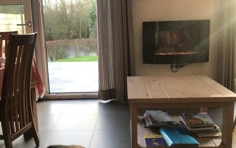 Salon et sa cheminée